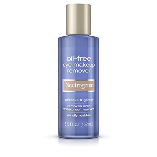 Neutrogena Gentle Oil-Free Eye Makeup Remover & Cleanser for Sensitive Eyes, Non-Greasy Makeup Remover, Removes Waterproof Mascara, Dermatologist & Ophthalmologist Tested, 5.5 fl. oz ( Pack of 2)