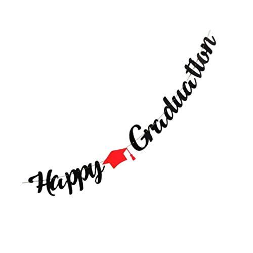 VALICLUD Graduation Banner 2021 Graduation Decorations Happy Graduation Paper Bunting Garland Hanging Decor for Graduation Party Favors