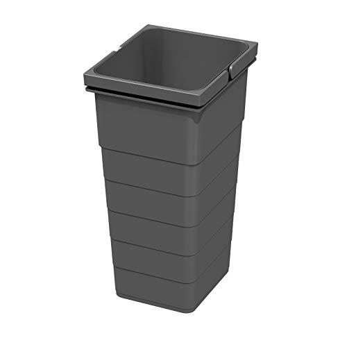 Ninka eins2vier Poubelle Hauteur: 330 mm Volumen: 11,5 Liter 229 x 205 mm gris sombre Recyclage Seau Ordures de SO-TECH®