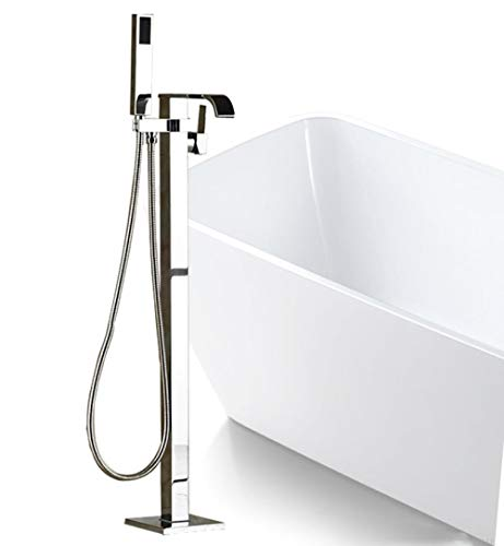 Best Quality Bathroom Floor Standing Bath tub Mixer Tap Faucet Single Handle Freestanding Bathtub Filler with Handshower