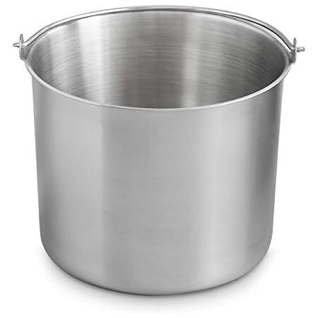 Réservoir acier inoxydable à glace pour la sorbetière, bac de rechange, bol à mélange, Sorbetière Elisa