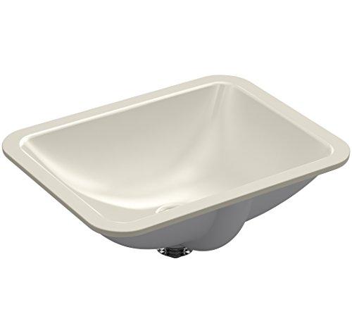 Kohler K-20000-G9 Rectangle 20-5/16 in. x 15-3/4 in. Undermount Bathroom Sink, Sandbar Caxton Rechteckig, 50,8 cm. x 39 cm Unterbau-Waschbecken, Sandstange