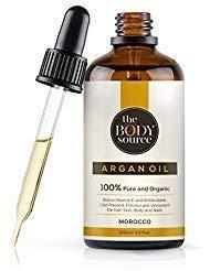 Reines Arganöl für Haare 100 ml - 100% kalt gepresst, vegan, biologisch zertifiziert - Öl für Anti-Aging, Gesicht, natürlich feuchtigkeitsspendend für weiche junge Haut - in Lichtschutz Glasflasche