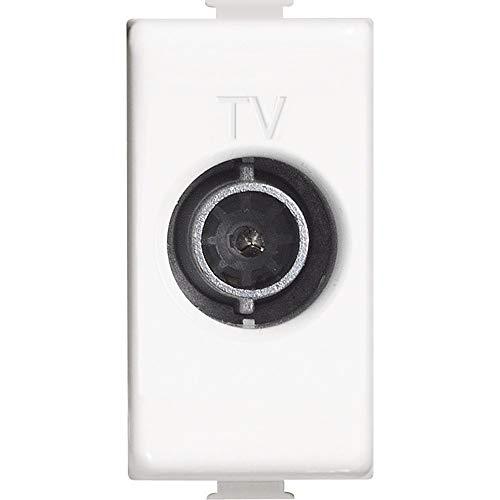 BTicino AM5202D Matix Presa TV Diretta, Bianco, 1 m
