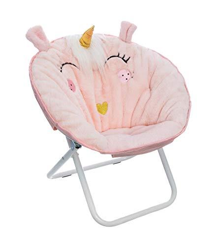 Atmosphera - Silla plegable de tela unicornio, color rosa claro