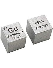 10 mm Cubo Metal Gadolinio 99,99% Alta Pureza Cubo Gadolinio Metal Tallado Elemento Periódico Tabla Cubo