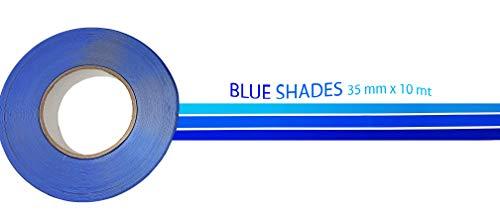 Quattroerre 10038 Stripe vlotterlijn Nautica stickers/plakken blauw 35 mm x 10 m