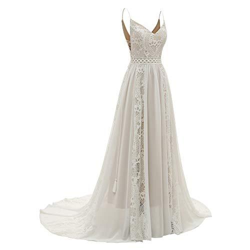 Vestido de mujer con escote en V, estilo bohemio, para boda, con...