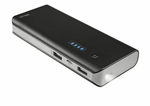 Trust Mobile Primo Powerbank, 13.000 mAh met 2 USB Poorten (voor Tablet & Smartphone), Zwart