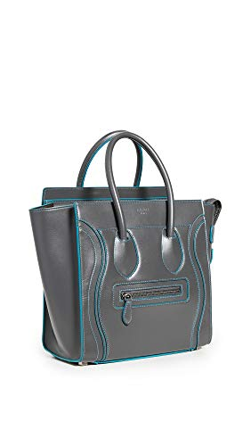 What Goes Around Comes Around Women's Celine Grey Smooth Luggage Micro Bag, Grey, One Size