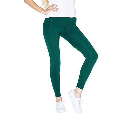 American Apparel Women's Cotton Spandex Jersey Legging, Forest, X-Large