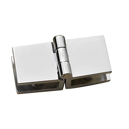 XJJZS 90, 180 Grados Clip Bilateral Hogar Fácil instalación de Vidrio Pinza de Cristal Zinc Práctico Durable Gabinete Cabina de Puerta Bisagra Armario de Muebles de baño (Color : A)