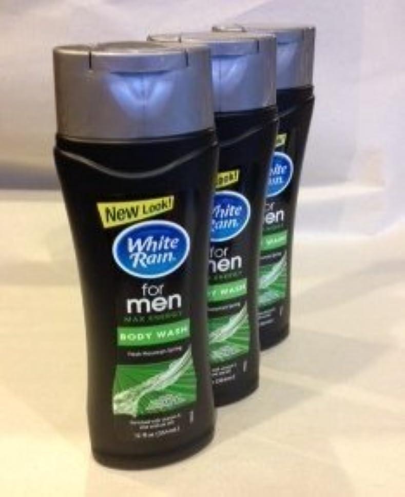 ペット入浴ロードハウスWhite Rain for Men Body Wash - Freash Mountain Spring Max Energy (QTY 3 Pack by White Rain