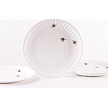 Bees 9  Melamine Plates, Set of 4