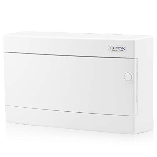 Zekeringkast opbouw IP40 verdeler behuizing 1-rij tot 18 modules witte deur voor droogkamer installatie in huis