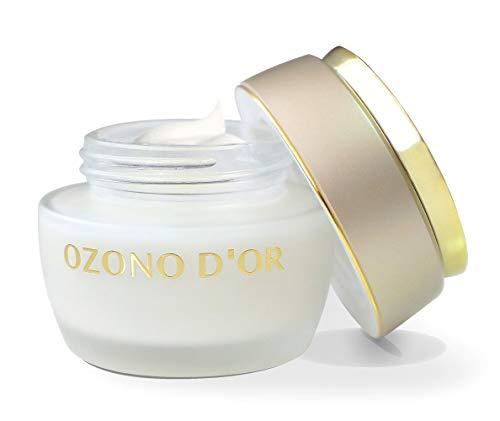 OZONO DOR. Crema facial antiedad de Ozono (50 g). Crema antiarrugas regenerante, elaborada con Aceite de Oliva Virgen Extra Ecológico y Ozono. Crema natural hidratante, antioxidante y oxigenante