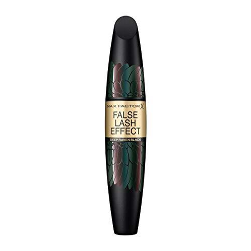 Max Factor False Lash Effect Mascara, Farbe 006 Deep Raven Black - Wimperntusche für maximale Länge und volle Wimpern, 13 g