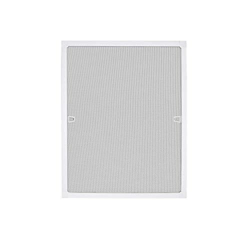 LARS360 Mosquitera para Ventana Mosquitera con Marco de Aluminio para Protección contra Insectos, Anti mosquitos, No Necesita Atornillar ni Agujerear (80x100cm, Blanco)