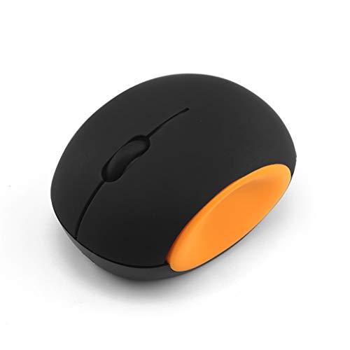 Yowablo Maus, Wireless Mäuse Wiederaufladbar Kabellose Maus 2.4Ghz 1600 DPI einstellbar für Heim,Büronutzung,Notebook,Computer,Laptop,Mac und Windows 2000/XP/ 7/8/Vista/98/ME,Mac OS (Orange)