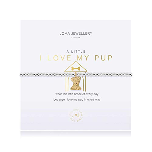 Joma Jewellery A Little I Love My PUP Silver Bracelet | 17.5cm Stretch