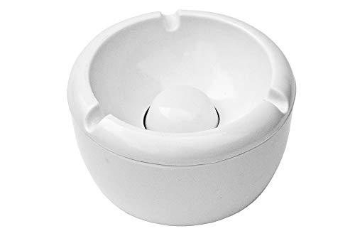 ASIS nettrade Posacenere portacenere in plastica–3Pezzi–Colore: Bianco–Diametro 10,0cm–Semplice–Cool–Budget