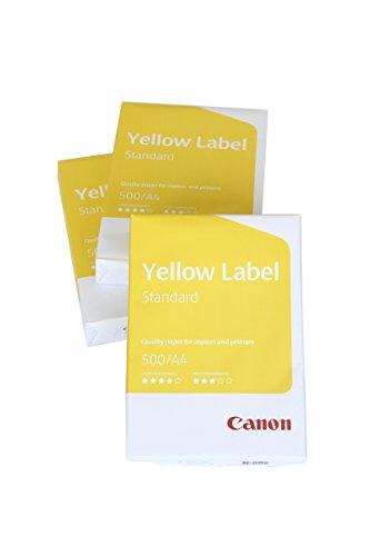 Canon Yellow Label Standard carta, EU Ecolabel, 3x 500fogli, formato A4, multifunzione, 80g/m² tutte le stampanti bianco Cie 150(Confezione Protettiva Ottimizzata)