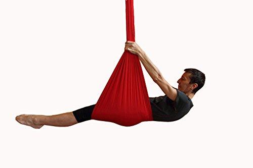 E-Bestar 5M Antigravity Yoga Amacadi Yoga Amaca per Pilates Altalena Amaca Altalena Yoga Attrezzatura per Danza Aerea Yoga Swing Aerial Silks (Rosso)