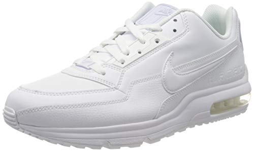 Nike Mens Air Max Ltd 3 Sneaker, White White White, 45 EU