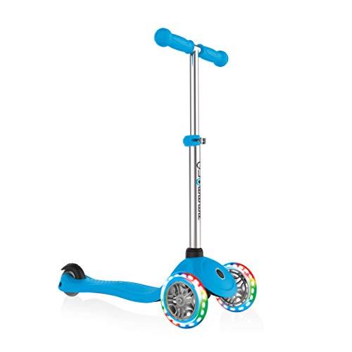 Globber Kinder Primo mit Licht bis Rädern Scooter, Kinder, Primo with Light Up Wheels, himmelblau, Nicht zutreffend