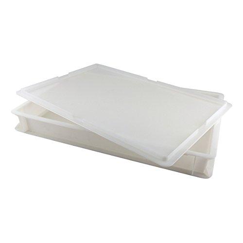 Genware NEV-DB-14 Dough Box Only No Lid, 60 cm x 40 cm x 7.5 cm, 14 L, White
