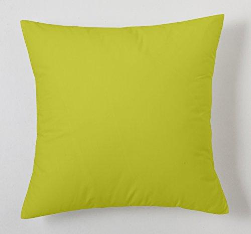 ESTELA - Funda de cojín Combi Lisos Color Pistacho - Medidas 40x40 cm. - 50% Algodón-50% Poliéster - 144 Hilos
