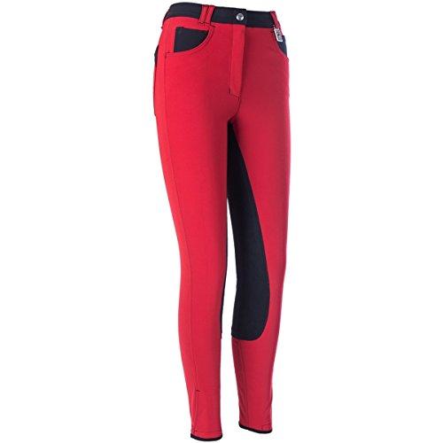Kyron Damen Reithose Roxy-6-W Jeanspocket rot/schwarz 42
