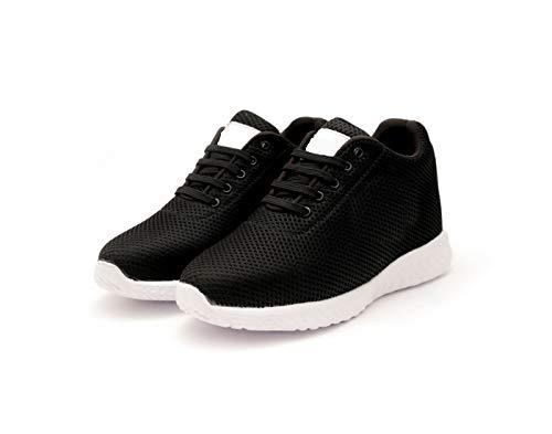 Global Rich Men's 3 Inch Hidden Height Increasing Sport Shoes for Cricket, Football, Basketball Etc. Black 7 UK (566Black7)