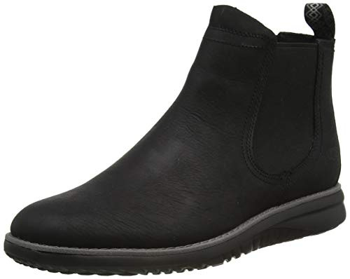 UGG Union Chelsea Weather Boot, Black Leather, Size 11