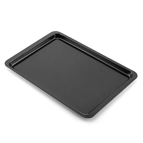 FANQIE Quarter Sheet Baking Pans, Non Toxic Rectangular DIY Non-Stick Baking Sheets Bakeware Baking Tray Baking Pan(S,Black)
