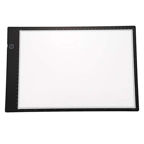 Cuadro de luz LED A4 Pad Trazador de dibujo Trazador Tablero de copia Tablero de mesa Tablero de copia del panel con función continua Control de brillo