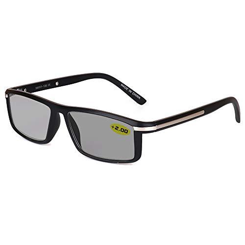 Gafas De Lectura De Transición Fotocromáticas Inteligentes Gafas De Sol Uv400 Transparentes Para Interiores Y Exteriores Con Dioptrías +1,00 A +3,00