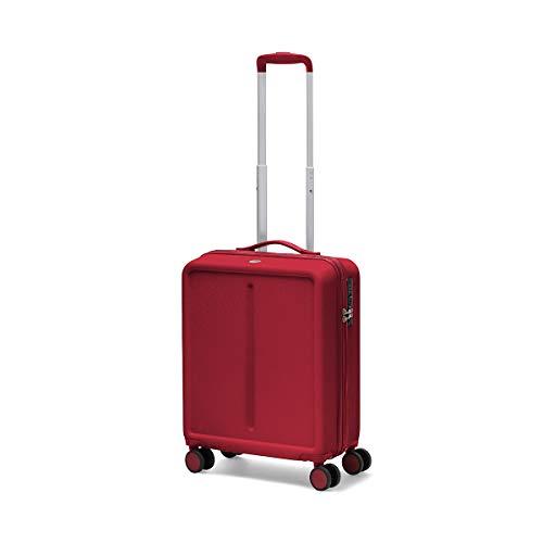 Ciak Roncato Bagaglio a Mano Dimensioni Standard da Cabina 55x40x20 cm, Colore Rosso, con Presa USB per Viaggi di Lavoro