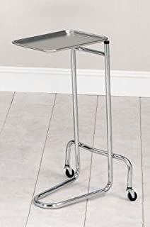 MediChoice Mayo Stand w/Tray, Adjustable Height from 34-54 Inch, 1314MAYO1201 (Each of 1)
