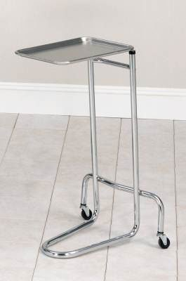 MediChoice Mayo Instrument Stand w/Adjustable Tray, Medical, Dental, Salon, Tattoo, Mobile Service Cart, Height from 34-54 Inch, 1314MAYO1201 (1 Each)