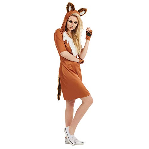 Womens Urban Fox Costume Ladies Cute Foxy Animal Dress Outfit - Medium