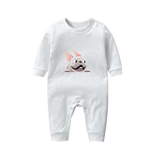 Baby Boy Girl Clothes French Bulldog When in Car Baby Onesies Cute Cotton Long Sleeve Bodysuits