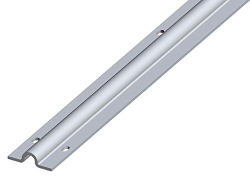 Rail à visser percé pour galet à gorge Ø 16 mm / 3 m- Ep 2,5mm - galva