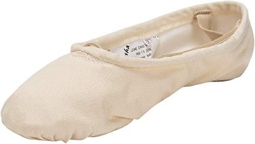 Sansha unisex-adult Pro 1 Canvas Ballet Slipper,Light Pink,11 M (9 M...
