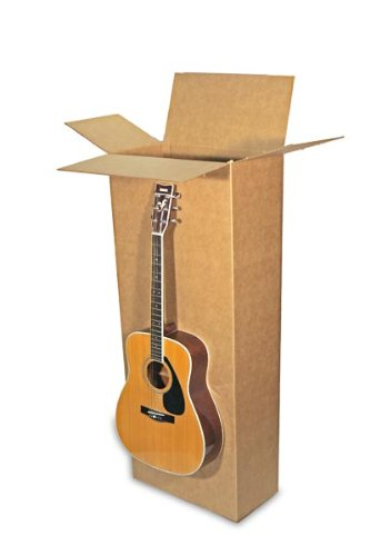 EcoBox 20 x 8 x 50 Inches Shipping/Moving Corrugated Box Carton for Acoustic Guitar (E3035)