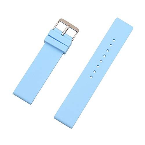 Simplicidad con estilo 12 mm 14 mm 16 mm 18 mm 20 mm 22 mm 24 mm Reemplazo de silicona Reloj Correa de banda de goma universal Reloj de reloj de reloj de relojes Accesorios de brazalete Accesorios de