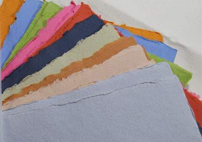KHADI Paper Multicolor RAG Paper (20 Sheets) Packs A5C 150 GSM 6' X 8.25'