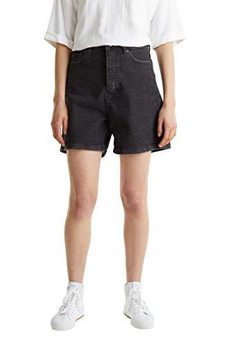 edc by Esprit Damen 040CC1C305 Jeans-Shorts, 912/BLACK MEDIUM WASH, 28