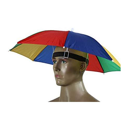 westeng Golf Angeln Camping mit Kopfbedeckungen Cap Sonne Regen Regenschirm Hat 55cm Durchmesser 1Stück