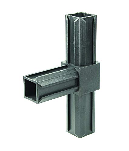 GAH-Alberts 426453 XD-Rohrverbinder   T-Stück   Kunststoff, schwarz   30 x 30 x 2,0 mm   10er Set